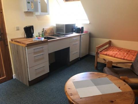 Küchenzeile in der Junior-Suite
